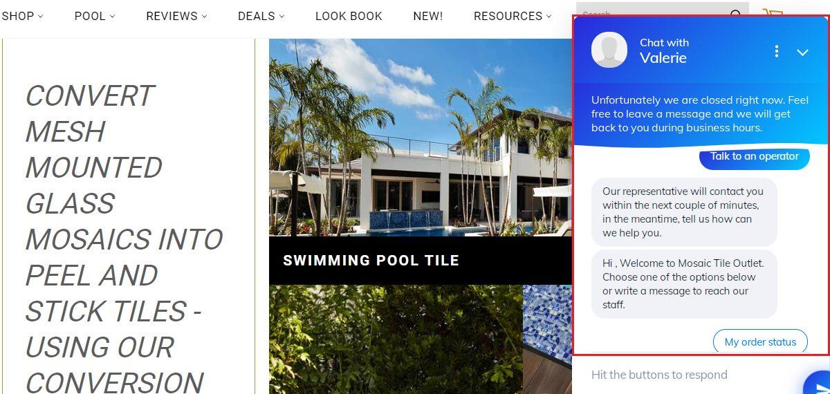 MTO website sample